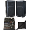 "(2)Peavey DM112 15"" 1000W+ Powered PA System & PV10AT Mixer w/Antares AutoTune"