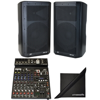 "(2)Peavey DM112 15"" 1000W Powered PA System & PV10AT Mixer with Antares AutoTune"