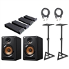 Pioneer BULIT6 - 6 Inch Powered Pro DJ, Studio Monitoring Speaker with Cable, Stand and MoPad