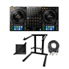 Pioneer DDJ-1000 Professional DJ Controller w/ AxcessAbles DJLTS-01 Foldable Laptop Stand, XLR Audio Cable and eStudioStar Polishing Cloth