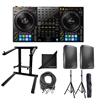 Pioneer DDJ-1000 Professional DJ Controller w/ JBL EON615 Speaker Pair AxcessAbles DJLTS-01 Foldable Laptop Stand, Speaker Stands, XLR Audio Cable and eStudioStar Polishing Cloth
