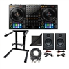 Pioneer DDJ-1000 DJ Controller w/ AxcessAbles DJLTS-01 Foldable Laptop Stand, XLR Audio Cable, PreSonus Eris E3.5 Monitoring Speakers and eStudioStar Polishing Cloth