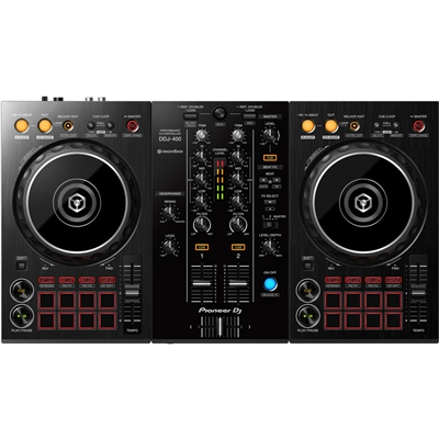 Pioneer DJ DDJ-400 Portable 2-Channel Rekordbox DJ Controller