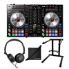 Pioneer DDJ-SR2 DJ Controller w/ Samson SR350, AxcessAbles Foldable Laptop Stand and eStudioStar Polishing Cloth