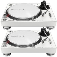 Pioneer DJ PLX-500-W Direct Drive DJ Turntable, White (Pair)