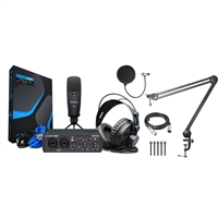 PreSonus AudioBox 25th 96k Studio USB 2.0 hardware/software Recording kit w/ AxcessAbles Microphone Boom Arm Stand and Microphone Pop Filter