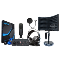 PreSonus AudioBox 25th 96k Studio USB 2.0 hardware/software Recording Kit w/ AxcessAbles Microphone Isolation Shield and Microphone Pop Filter