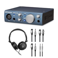PreSonus AudioBox iOne Audio Interface w/Headphone and Cables