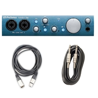 PreSonus AudioBox iTwo iPad and Computer Interface w/XLR & Instrument Cables