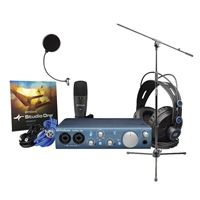 PreSonus AudioBox iTwo Studio Audio Recording Interface with Windpop and Mic Stand - AMZ-FBA -
