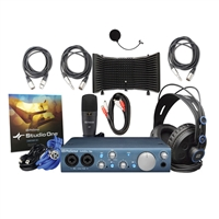 Presonus AudioBox iTwo Studio Recording Studio, Podcast Package