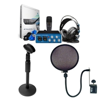 Presonus AudioBox Studio PodCast Bundle w/ AxcessAbles Desk Stand and Pop Filter