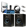 PreSonus AudioBox Studio Package for Recording PodCast Studio with Speakers and Cables