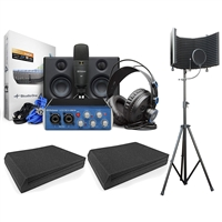 PreSonus AudioBox Studio Ultimate Bundle Complete Hardware/Software Recording Kit w/ AxcessAbles Isolation Shield and Speaker Foam Pads