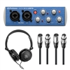 Presonus AudioBox USB Audio Interface w/ AxcessAbles Stereo Headphones and XLR-XLR20 Audio Cables (2)