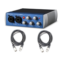 Presonus AudioBox USB 96 Recording Podcast interfance with AxcessAbles Cables