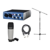 Presonus AudioBox USB 96 Recording interface Package with Microphone, Cable and Stand