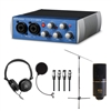 Presonus AudioBox USB 96 Audio Interface w/ MXL MXL770 Condenser Microphone, AxcessAbles Headphones, Stand, Filter and Audio Cables