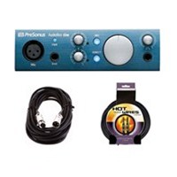 PreSonus AudioBox iOne iPad and Computer Interface w/XLR & Instrument Cables