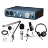 PreSonus ABiTWO AudioBox iTwo 2x2 USB 2.0 / iPad Audio Interface w/ AxcessAbles Condenser Microphone, Microphone Boom Arm Stand, Pop Filter and Stereo headphones