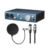 PreSonus ABiTWO AudioBox iTwo w/ AxcessAbles Microphone Pop Filter and XLR Audio Cables