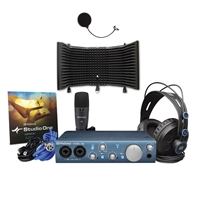 Presonus AudioBox iTwo Studio - HD7 Headphones, M7 Mic, S1 Artist W/ AxcessAbles Isolation Shield