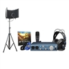PreSonus AudioBox iTwo Studio Recording/Pocast bundle with AxcessAbles Recording Studio Microphone Isolation Shield and Stand