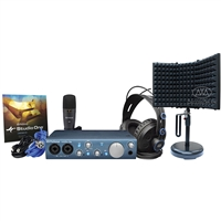 Presonus AudioBox iTwo Studio - HD7 Headphones, M7 Mic, S1 Artist with AxcessAbles Desktop Isolation Booth