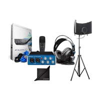Presonus AudioBox 96 Studio USB Audio Interface Kit w/ AxcessAbles Microphone Isolation Shield and eStudioStar Polishing Cloth