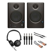 PreSonus Ceres C4.5BT 2-Way Powered Speaker with Stereo Headphone, 2 TRS14-XLR115M Audio Cable, CMM-110 Cable and CRA-201 Cable