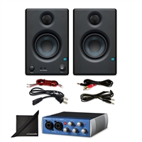 "Presonus AudioBox USB 96 Audio Interface w/ PreSonus Eris E3.5 3.5"" Monitoring Speakers (Pair) and eStudioStar Polishing Cloth"