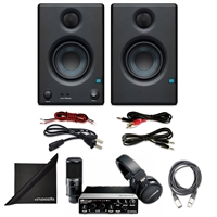 "Steinberg UR22 MKII RP Recording Pack w/ PreSonus Eris E3.5 3.5"" Monitoring Speakers (Pair), Axcessables Audio Cable and eStudioStar Polishing Cloth"
