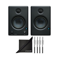 PreSonus Eris 4.5 High Definition 2-Way 4.5-Inch Near-field Studio Monitors w/2 Instrument Cables