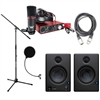 Presonus Eris 4.5 Monitor Pair w/ Scarlett Studio, Ableton Live Lite, Stand, Pop Filter, Cables