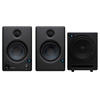 PreSonus Eris E4.5 Hi-Definition 2-Way 4.5' Nearfield Monitoring Speakers (Pair) with Temblor T10 Active 10' Studio Subwoofer