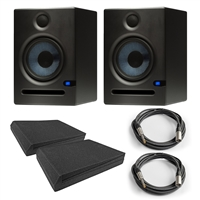 PreSonus Eris E5 (Pair) Active Monitors with Isolation Pads and  Cables
