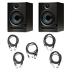 PreSonus Eris E5 Monitors (Pair) with Cables for Mixers, Interfaces, and Laptops