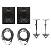 PreSonus Eris E8 Active Studio Monitors w Speaker Stands and TRS to XLR-Male Cables