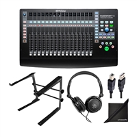 Presonus FaderPort 16 16-channel Mix Production Controller w/ Tabletop Stand, Stereo Headphones USB Cord and eStudioStar Polishing Cloth