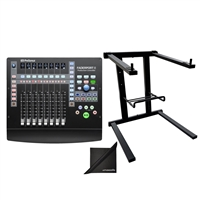 PreSonus Faderport 8 Mix Production Controller w/ AxcessAbles Laptop Stand and eStudioStar Polishing Cloth
