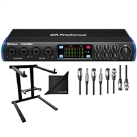 PreSonus Studio 1810c 18x8 USB Type-C Audio MIDI Interface w/ Audio Cables, Laptop Stand and eStudioStar Polishing Cloth