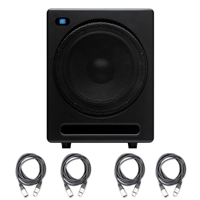 "PreSonus Temblor T10 Active 10"" Studio Subwoofer with 4 20ft XLR Cable"