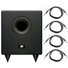 "Presonus Temblor T8 Active 8"" Studio Subwoofer with 1/4"" TRS to Same Cables"