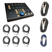 PreSonus Monitor Station V2 Desktop Studio Control Center w/AxcessAbles XLR and Instrument Cables