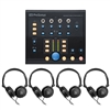 PreSonus Monitor StationV2 Desktop Studio Ctrl Center with 4 monitoring Headphones