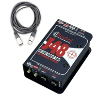 Radial Engineering J48 - Single Channel Active Direct Box with Cable