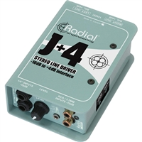 Radial Engineering J+4 Balanced Signal Driver - Stereo Preamplifier