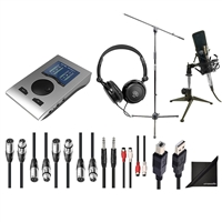 RME Babyface Pro 24-Channel Audio Interface w/ AxcessAbles Audio Cables, Condenser Microphone, Microphone Stand, Samson Headphones and eStudioStar Polishing Cloth