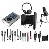 RME Babyface Pro 24-Channel Audio Interface w/ AxcessAbles Audio Cables, Condenser Microphone, Microphone Isolation Shield, Samson Headphones and eStudioStar Polishing Cloth