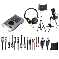 RME Babyface Pro 24-Channel Audio Interface w/ AxcessAbles Audio Cables, Condenser Microphone, Microphone Isolation Shield Stand, Samson Headphones and eStudioStar Polishing Cloth